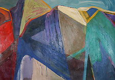 Abstract Granite Cliffs by Bruce Klein (Acrylic Painting)