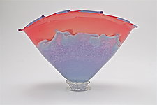 Crimson with Opal Lilac Overlay by Dierk Van Keppel (Art Glass Bowl)