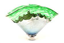Green Overlay Bowl by Dierk Van Keppel (Art Glass Bowl)