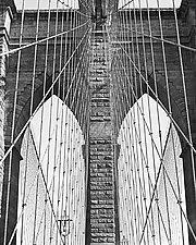 Brooklyn Bridge I by Allan Baillie (Black & White Photograph)