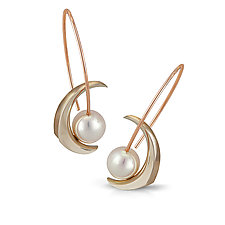 Cynthia Earrings by Britt Anderson (Gold & Pearl Earrings)