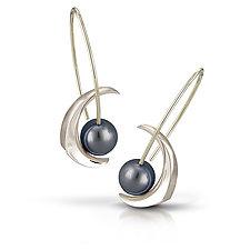 Cynthia Earrings by Britt Anderson (Gold & Pearl Earrings)