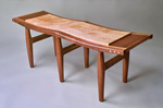 Still Pond Bench For Two by Richard Laufer (Wood Bench)