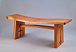 Wave Bench by Richard Laufer (Wood Bench)