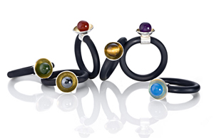 Rubber Rings: Thea Izzi: Rubber, Bimetal, & Stone Rings - Artful Home