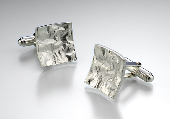Reticulated Square Cuff Links