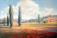 Tuscan Meadow by Allan Stephenson (Giclee Print)