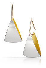 Spinnaker Earrings by Thea Izzi (Silver & Gold Earrings)
