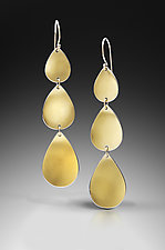 Goddess Tears Triple Drop by Thea Izzi (Gold & Silver Earrings)