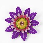 Dahlia Felt Flower Pin by Renee Roeder-Earley  (Felted Brooch)