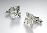 Reticulated Square Cuff Links by Thea Izzi (Silver Cuff Links)