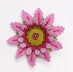 Dahlia Felt Flower Pin by Renee Roeder-Earley (Felted Brooch)