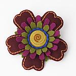 Poppy Felt Pin by Renee Roeder-Earley  (Felted Brooch)