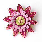 Aster Felt Flower Pin by Renee Roeder-Earley  (Felted Brooch)