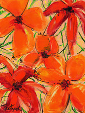 Abstract Flower Two by Lynne Taetzsch (Acrylic Painting)