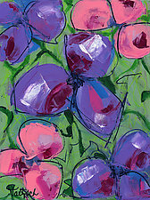 Abstract Flower Three by Lynne Taetzsch (Acrylic Painting)