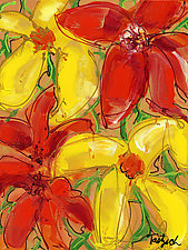 Abstract Flower Four by Lynne Taetzsch (Acrylic Painting)