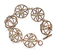 Bronze Onion Bracelet by Randi Chervitz (Bronze, Silver & Stone Bracelet)