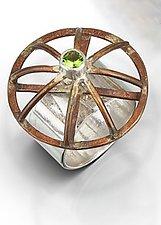 Bronze Dome Ring by Randi Chervitz (Bronze, Silver & Stone Ring)