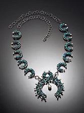 Modern Squash Blossom by Randi Chervitz (Silver & Stone Necklace)