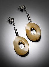 Yellow Jade Earrings by Randi Chervitz (Silver & Stone Earrings)