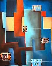 Windows #3 by Christian Culver (Pastel Painting)