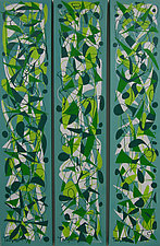 Pecking Order Triptych by Lynne Taetzsch (Acrylic Painting)