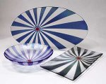 UR Here Platter by Kathleen Ash (Art Glass Platter)