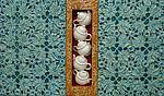 High Tea by Kathleen Holmes (Mixed-Media Wall Sculpture)