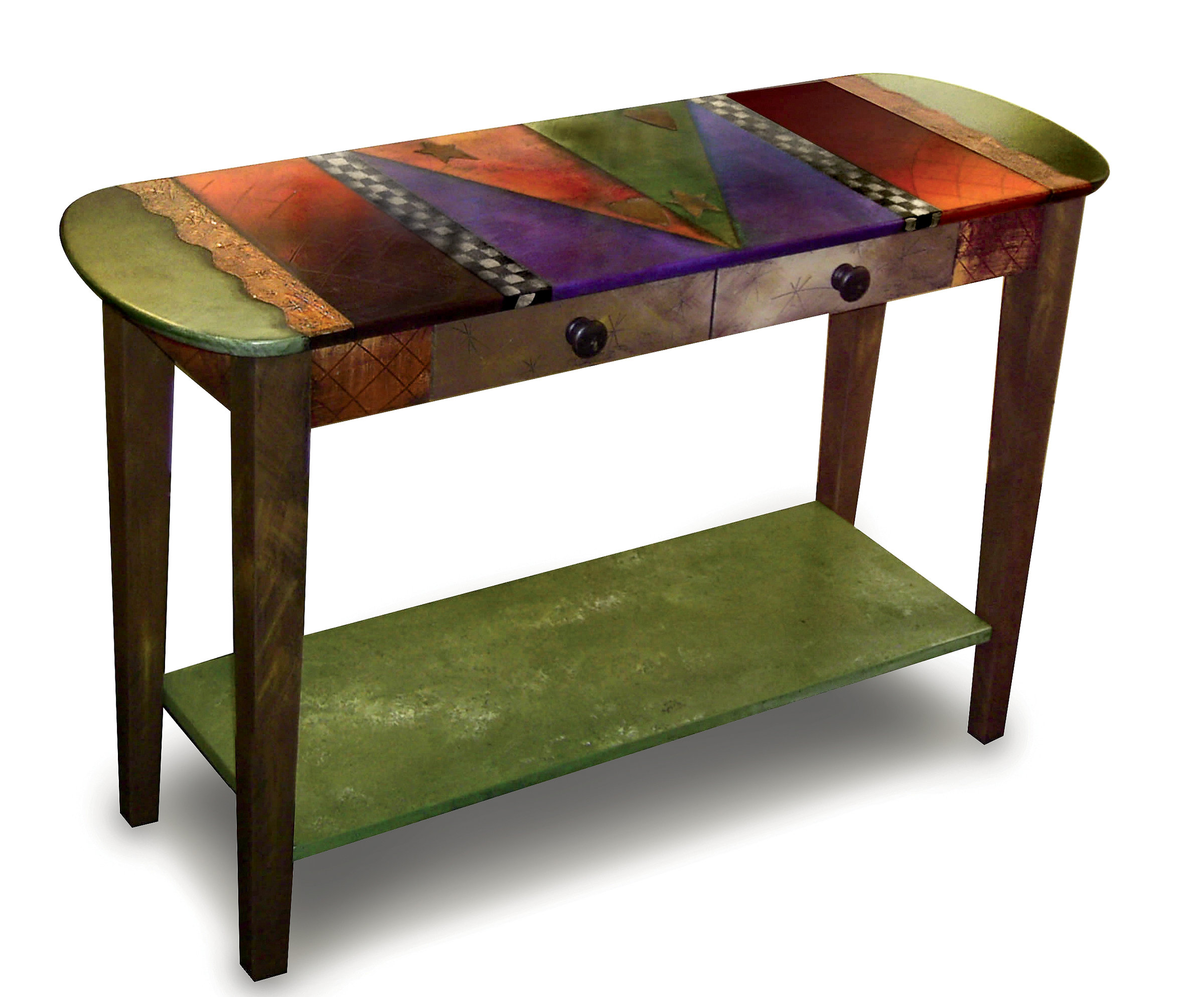 oval sofa table by wendy grossman wood console table artful home. Black Bedroom Furniture Sets. Home Design Ideas