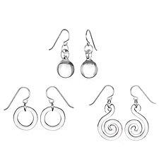 Round Earring Trio by Roxann Slate (Art Glass Earrings)