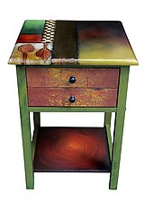 Two-Drawer End Table in Early Autumn by Wendy Grossman (Wood Side Table)