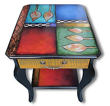Big Lovely by Wendy Grossman (Wood Side Table)