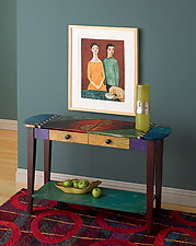 Oval Sofa Table by Wendy Grossman (Wood Table)