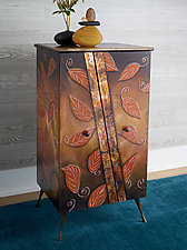 Autumn Cabinet by Wendy Grossman (Wood Cabinet)