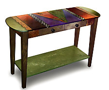 Oval Sofa Table by Wendy Grossman (Wood Console Table)