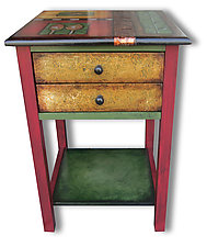 Harvest Vine End Table by Wendy Grossman (Wood Side Table)