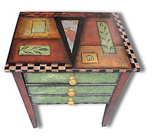 Ginger Snap by Wendy Grossman (Wood Side Table)