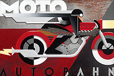 Moto Autobahn by M. Kungl (Giclee Print)