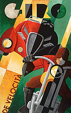 Giro De Velocita  on Canvas by M. Kungl (Giclee Print)