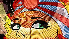 Samurai Eyes by M. Kungl (Giclee Print)