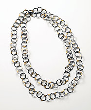 Golden Rice Necklace by Ken Loeber and Dona Look (Gold & Silver Necklace)