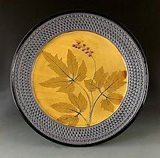 Amber Snakeroot Platter by Suzanne Crane (Ceramic Platter)