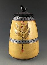 Wren Mission Jar in Amber by Suzanne Crane (Ceramic Jar)