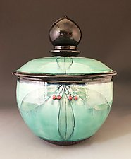 Taj Lidded Bowl by Suzanne Crane (Ceramic Bowls)