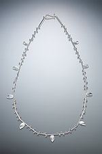 Seed & Leaf Necklace by Ken Loeber and Dona Look (Silver Necklace)