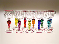 Optic Goblets by Ralph Mossman and Mary Mullaney (Art Glass Goblets)