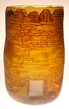 Ruin Walls by Ralph Mossman and Mary Mullaney (Art Glass Vase)