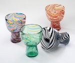 Djembe Glass by Ralph Mossman and Mary Mullaney (Art Glass Goblet)