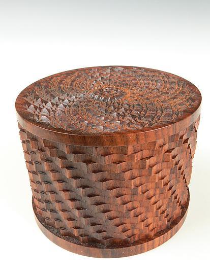 Ornamental Turning Sampler Box By Dewey Garrett Wood Box
